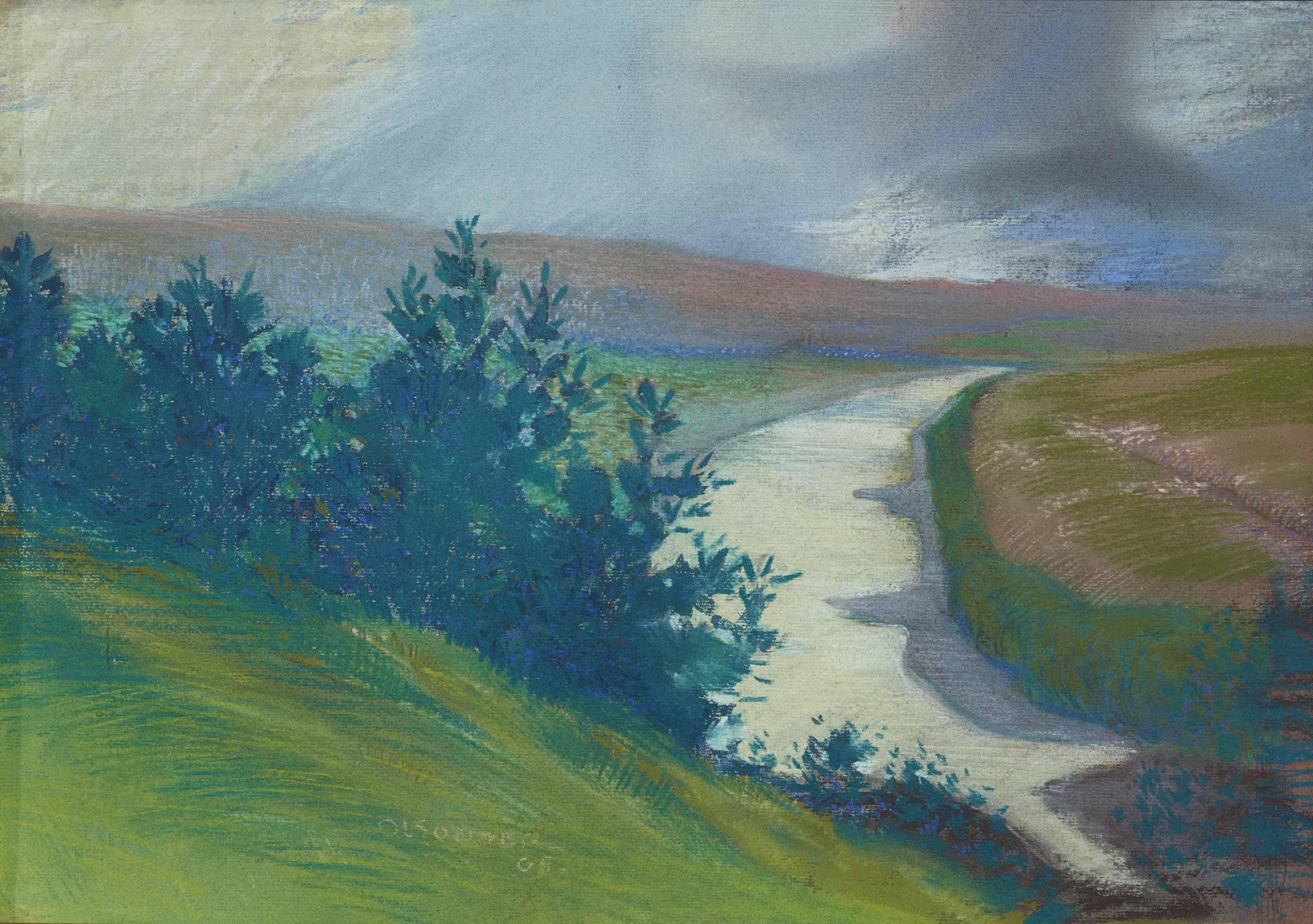 Paysage du Rhône, 1908