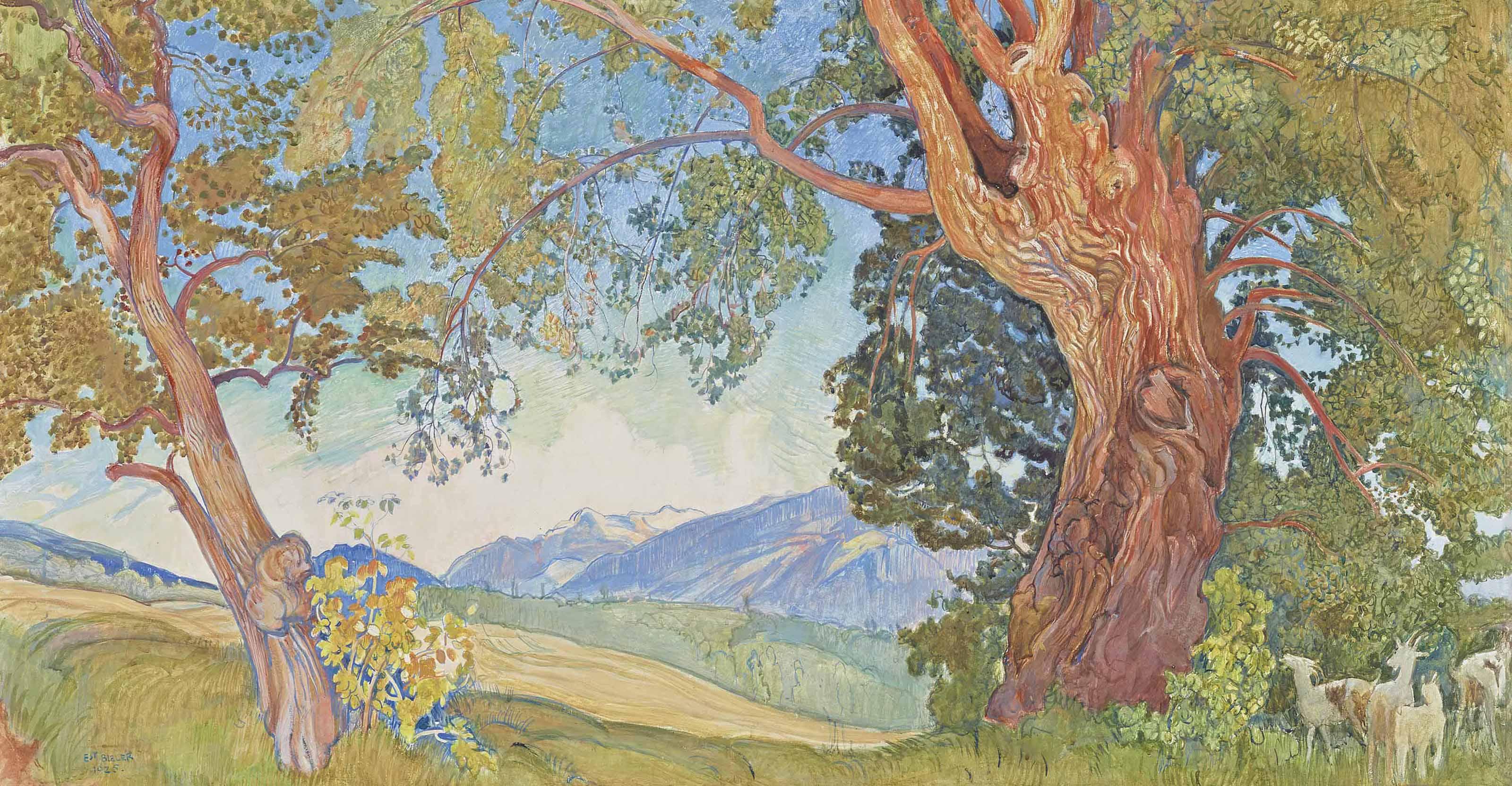 Paysage à Savièse, 1925