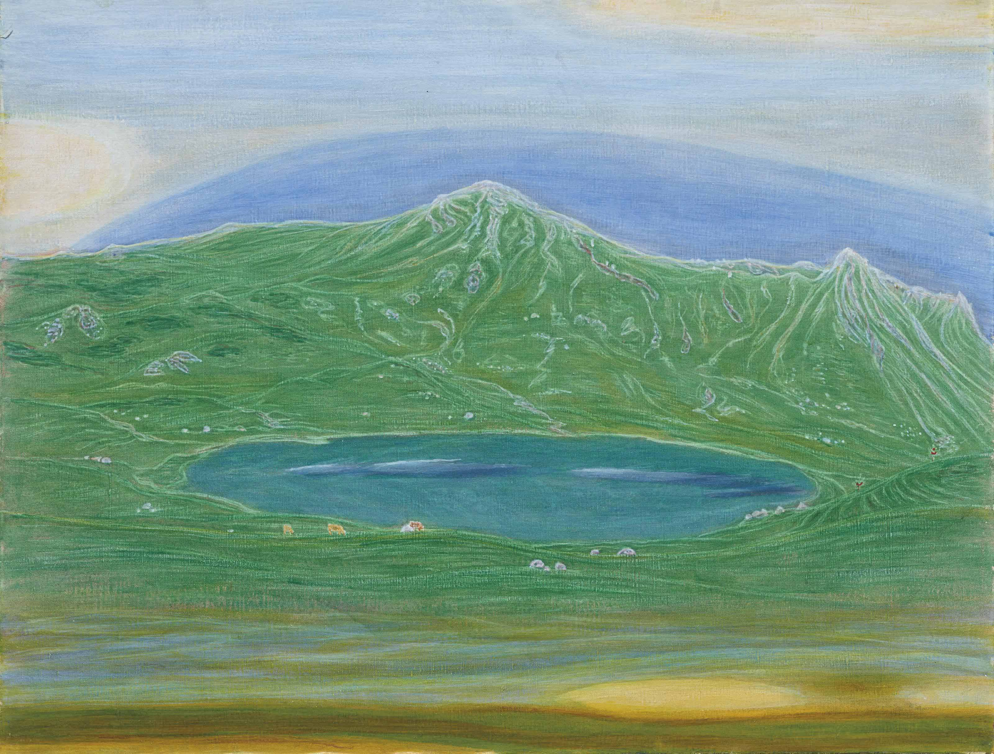Lac de Roy, bleu-vert (rückseitig: Detail aus La Naissance du poète)