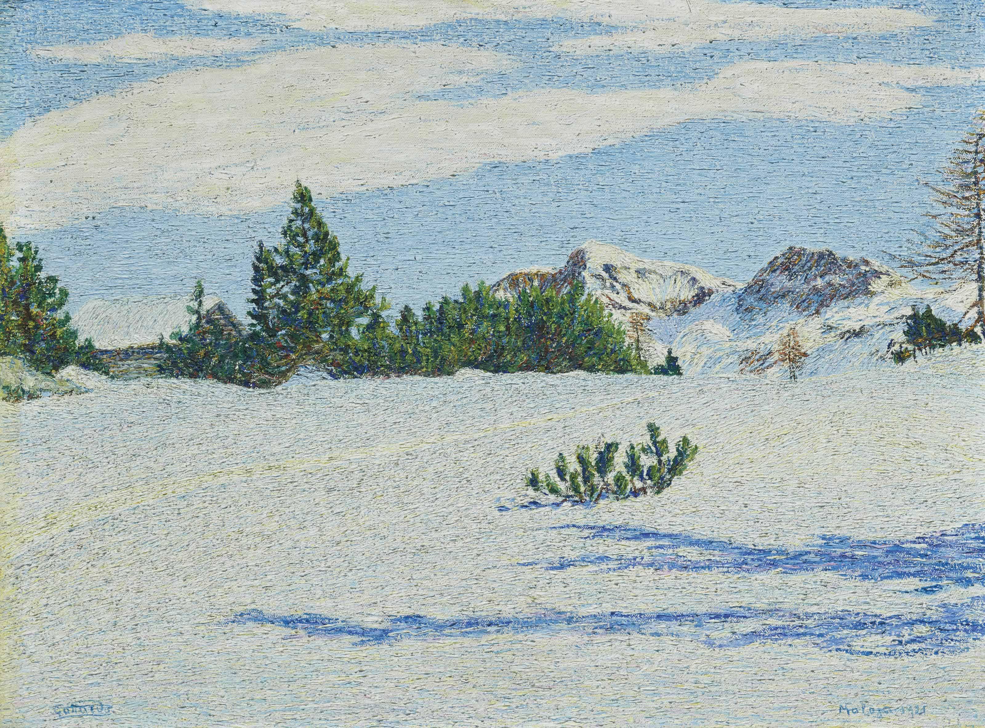 Neve al sole, 1921