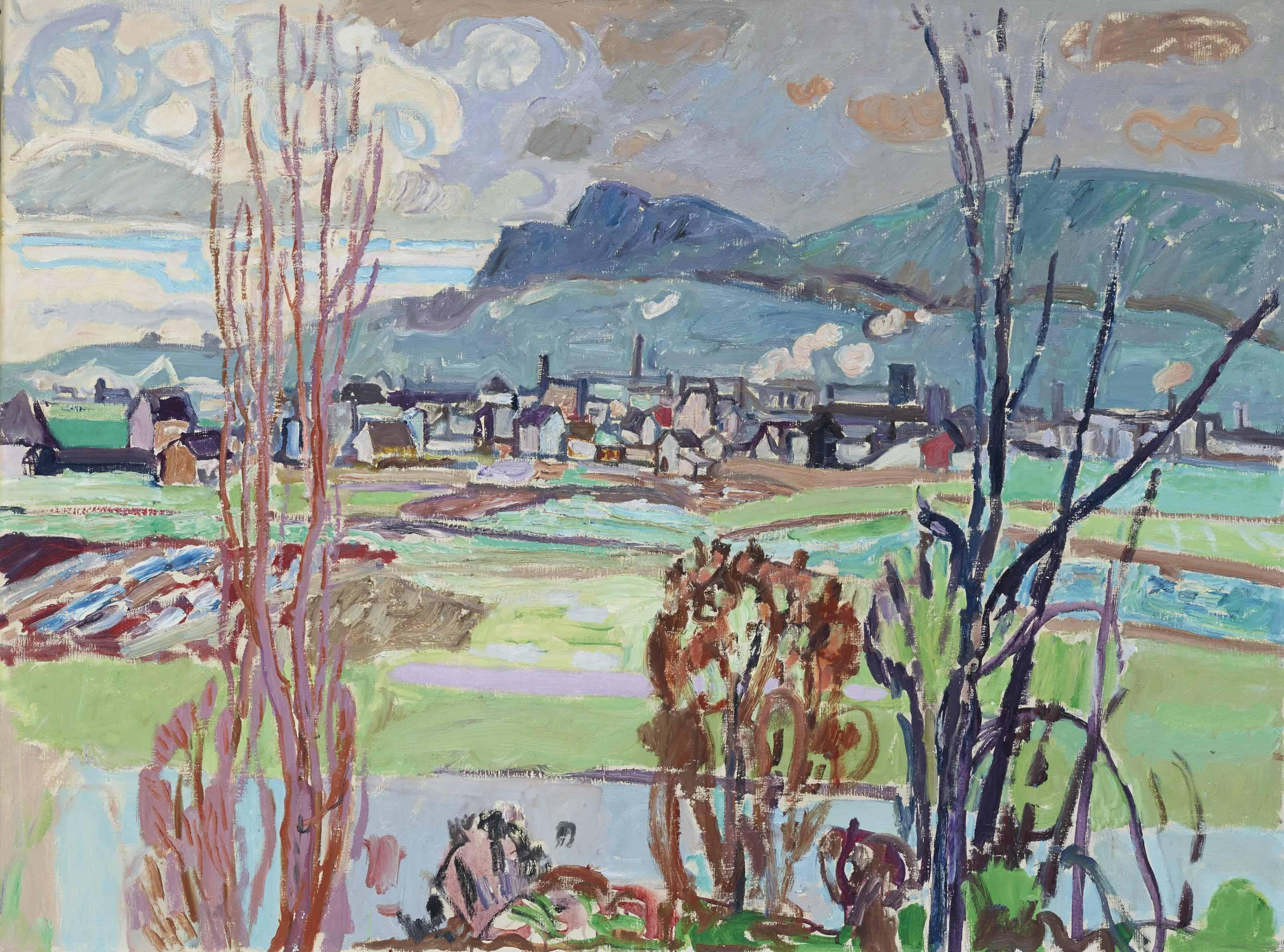 Herbstlandschaft, Schlieren, Unterengstringen, 1941