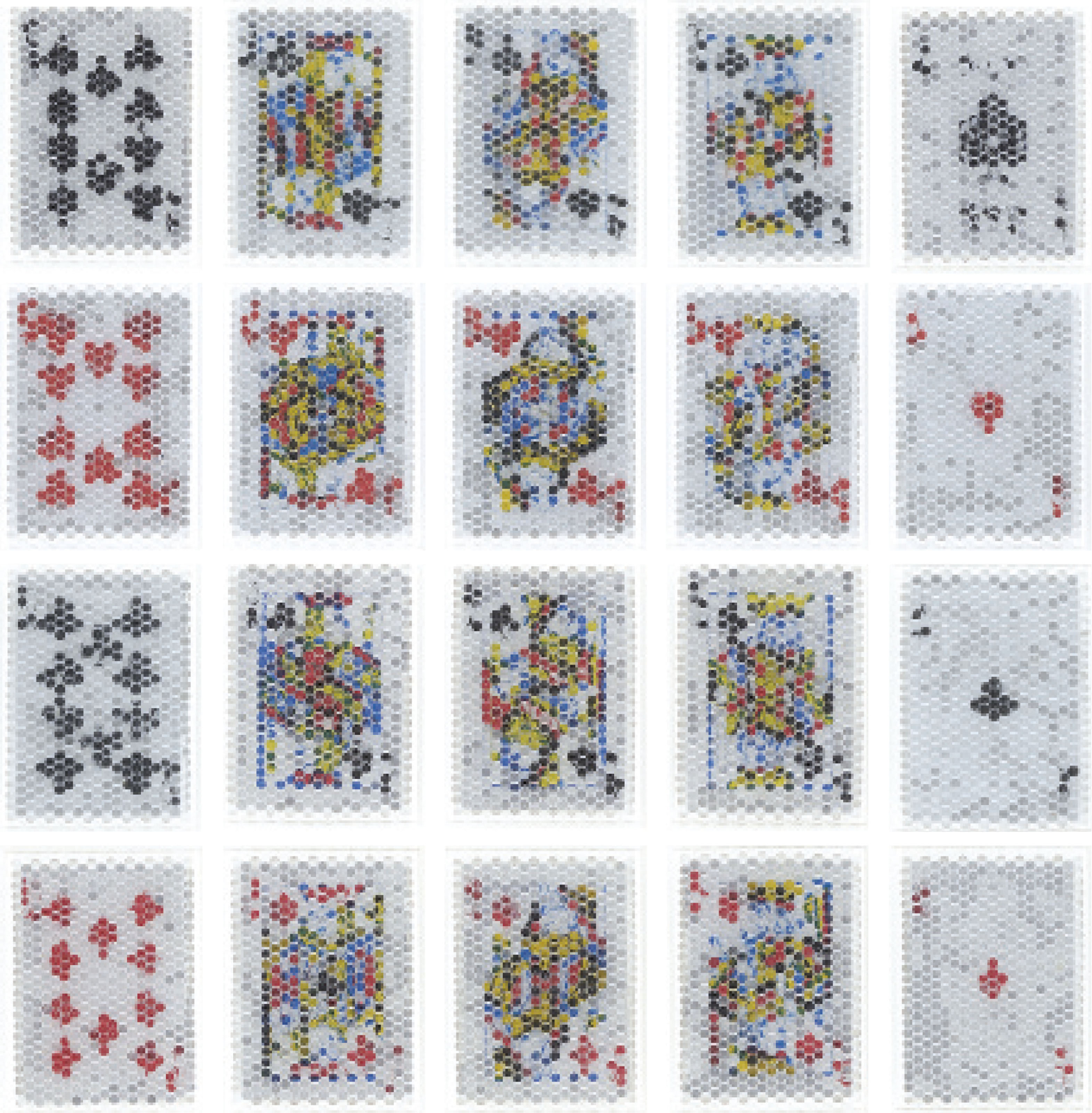 PixCell-Trump#4: (Royal-Straight-Flush-DiamondSpades); (Royal-Straight-Flush-Hearts); (Royal-Straight-Flush-Clubs); (Royal-Straight-Flush-Diamonds)