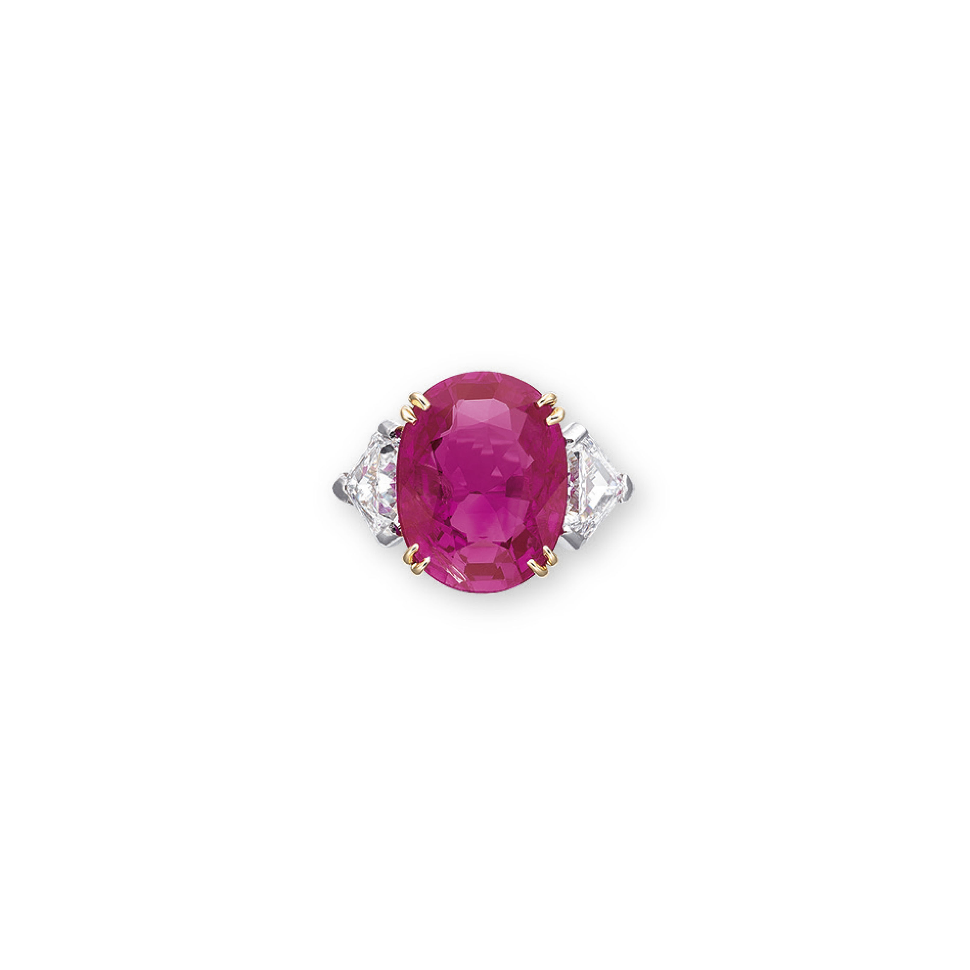 A RUBY AND DIAMOND RING, BY CUSI