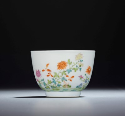 A FAMILLE ROSE 'FLORAL' CUP