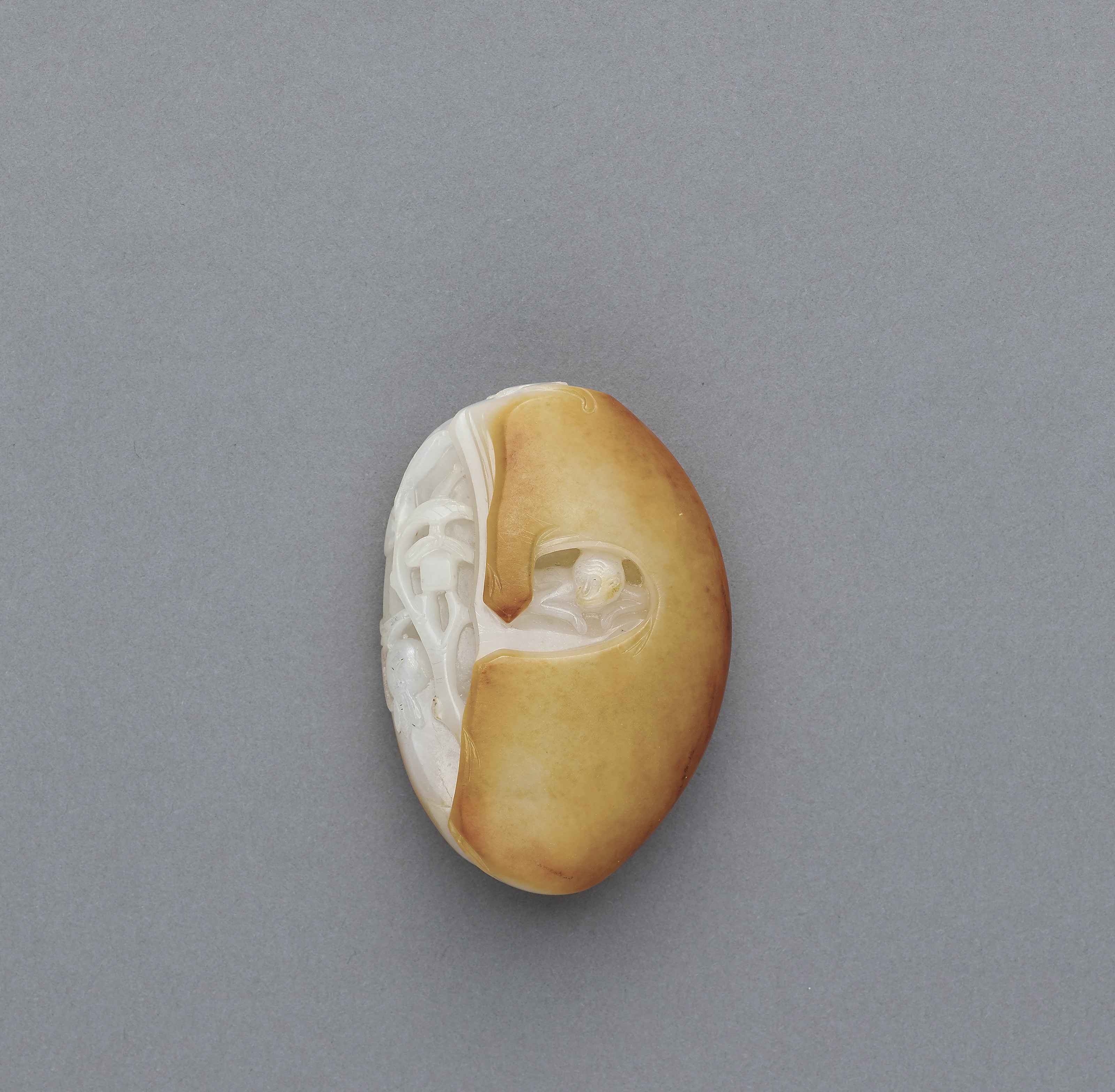 A small white and russet jade monkey pendant qing dynasty 18th lot 156 aloadofball Images
