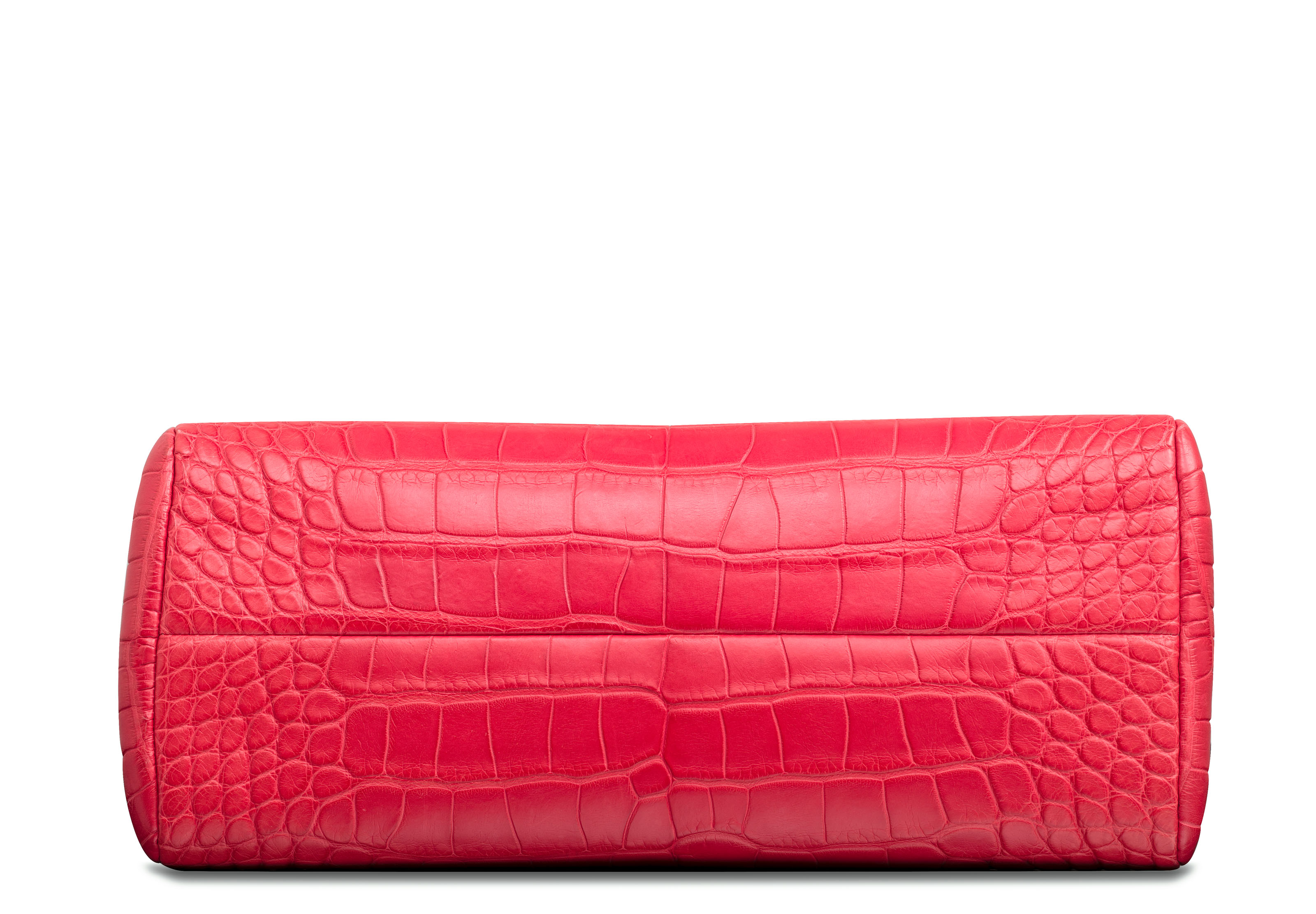 A MATTE PINK ALLIGATOR MEDIUM MADEMOISELLE BAG WITH BURNISHED SILVER ... 559eb1478040b