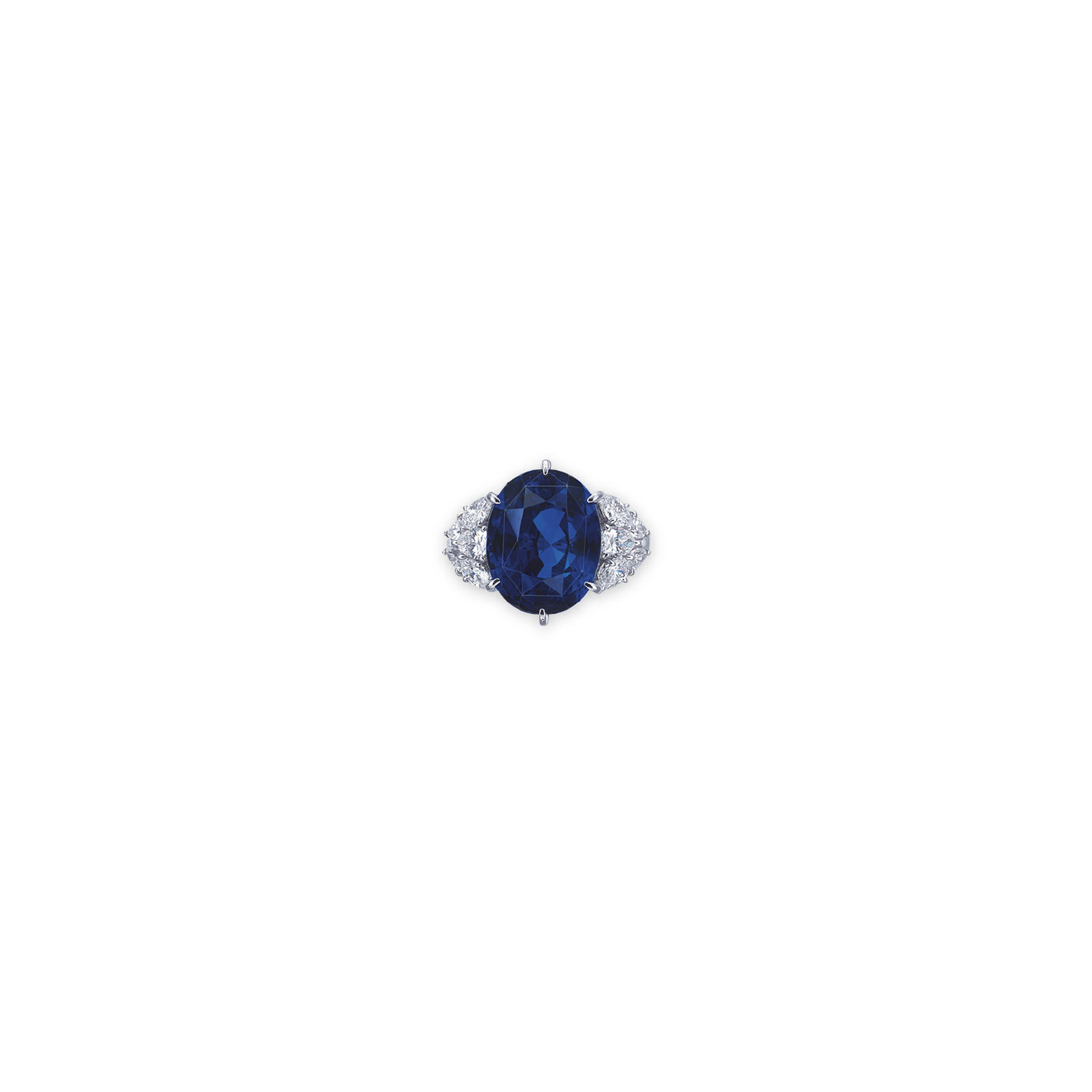 A SAPPHIRE AND DIAMOND RING, BY MIKIMOTO