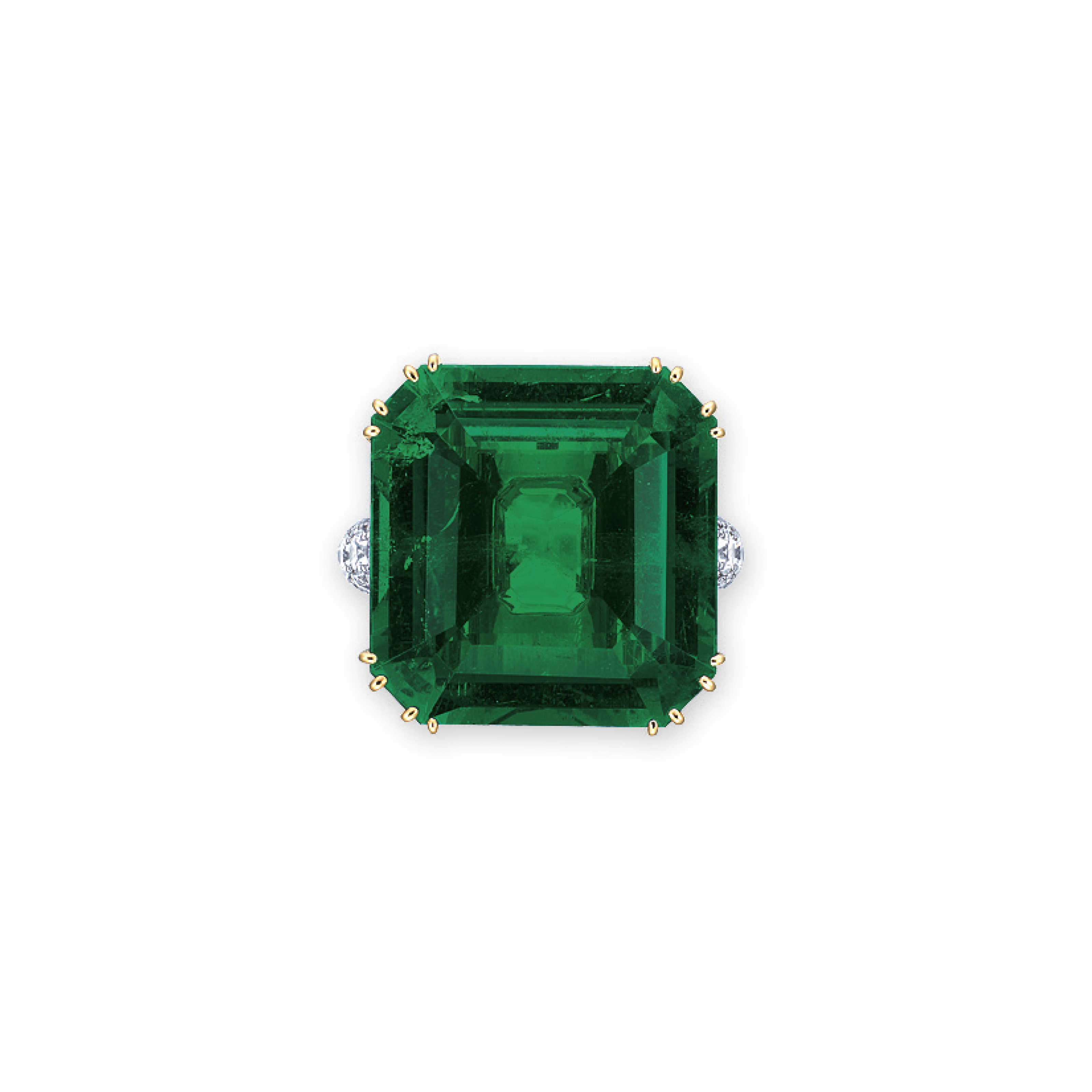 AN EXCEPTIONAL EMERALD AND DIAMOND RING, BY GIMEL