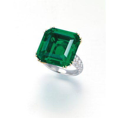 AN EXCEPTIONAL EMERALD AND DIA