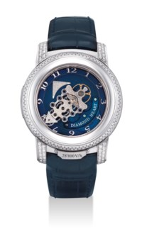 ULYSSE NARDIN. A VERY FINE AND RARE PLATINUM AND DIAMOND-SET LIMITED EDITION CARROUSEL TOURBILLON WRISTWATCH WTIH DUAL DIRECT ESCAPEMENT AND 7 DAY POWER RESERVE