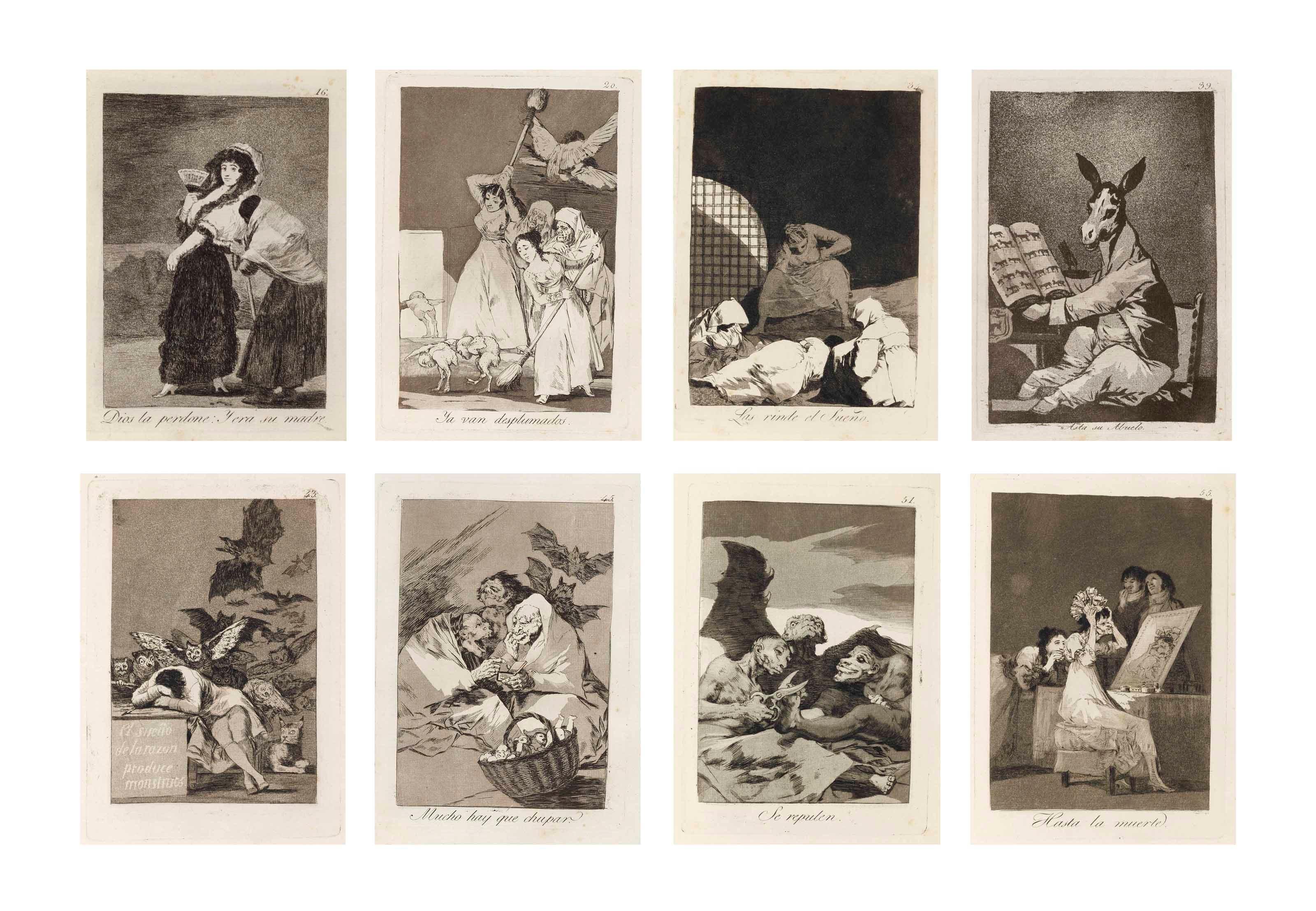 法兰西斯科·戈雅(1746-1828),《狂想曲》(D. 38-117; H. 36-115)。S 11⅞ x 7 1516 吋(302 x 202毫米)(整体)。此作与2014年1月28日在佳士得纽约售出,成交价1,445,000美元