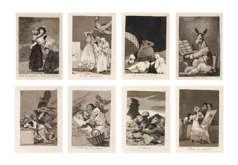 Francisco de Goya y Lucientes (1746-1828), Los Caprichos (D. 38-117; H. 36-115).  S 11⅞ x 7 1516  in (302 x 202  mm) (overall). Sold for $1,445,000 on 28 January 2014 at Christie's in New York