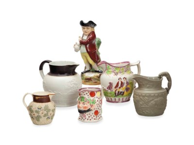 A GROUP OF TEN ENGLISH CERAMIC