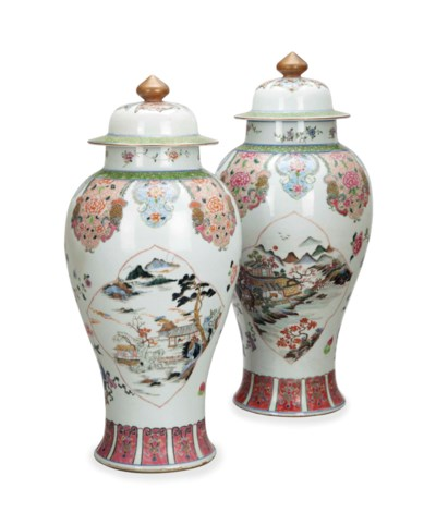 A NEAR PAIR OF CHINESE LARGE F