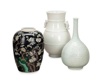 TWO CHINESE PORCELAIN VASES, A