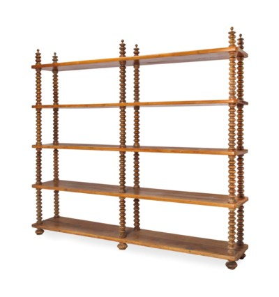 A PINE AND OAK LARGE ETAGERE,