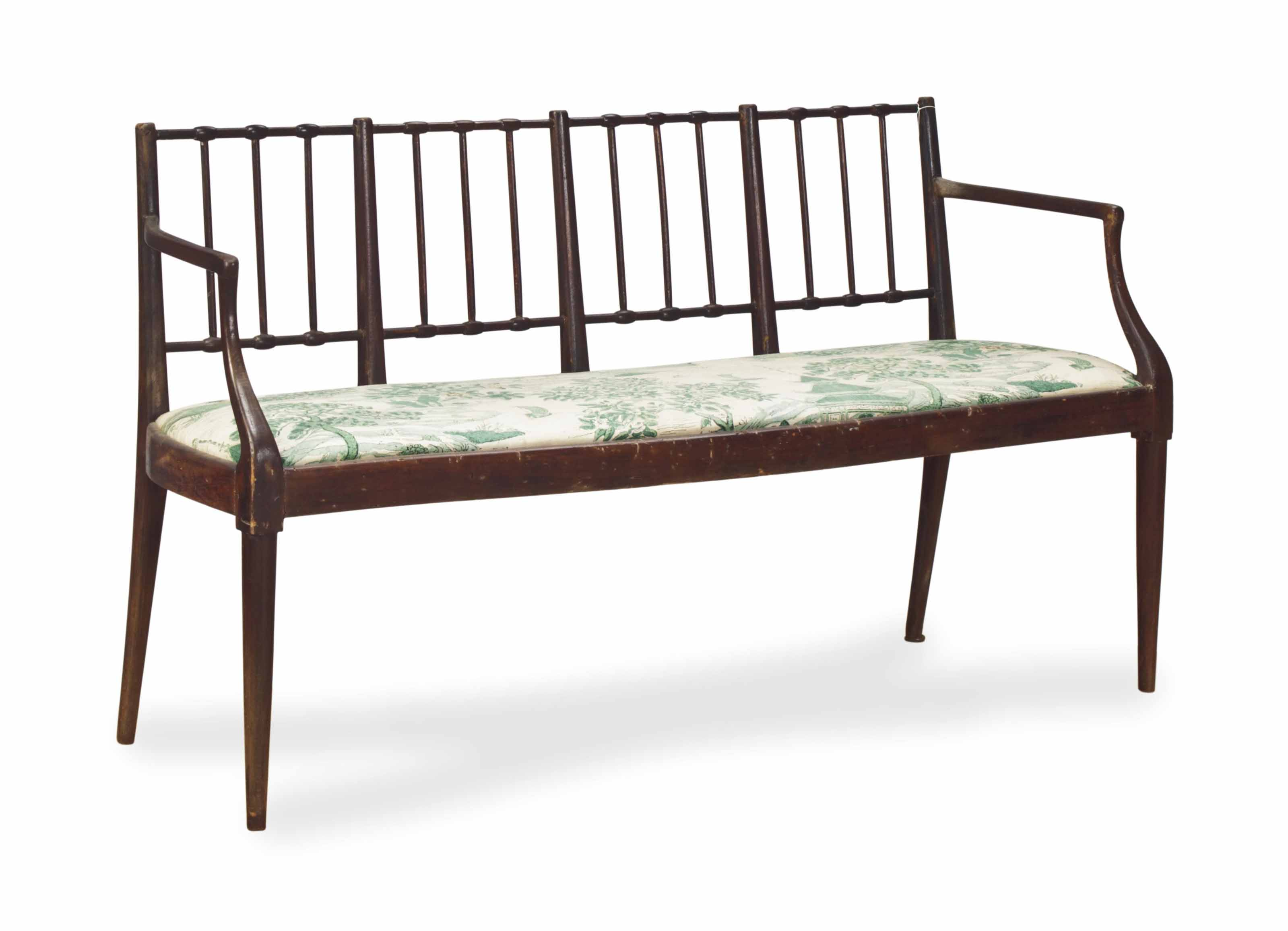 AN ITALIAN STAINED SETTEE,