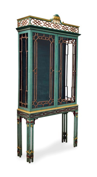 A CHIPPENDALE STYLE POLYCHROME