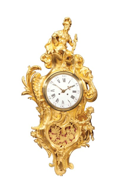 A FRENCH ORMOLU CARTEL D'APPLI