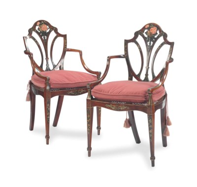 A PAIR OF LATE GEORGE III SATI
