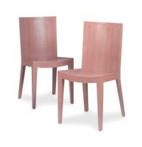 A SET OF TWELVE LILAC FAUX SHAGREEN DINING CHAIRS,