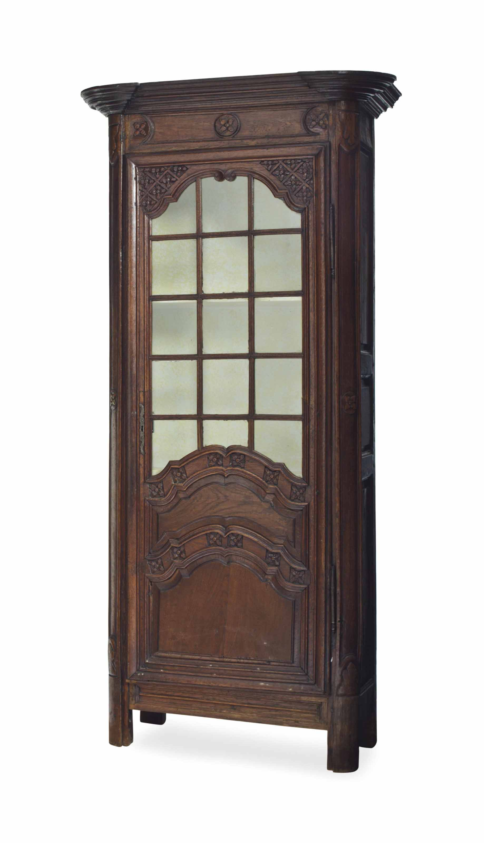 A FRENCH PROVINCIAL OAK CABINET,