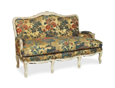 A LOUIS XV STYLE BLEACHED WOOD