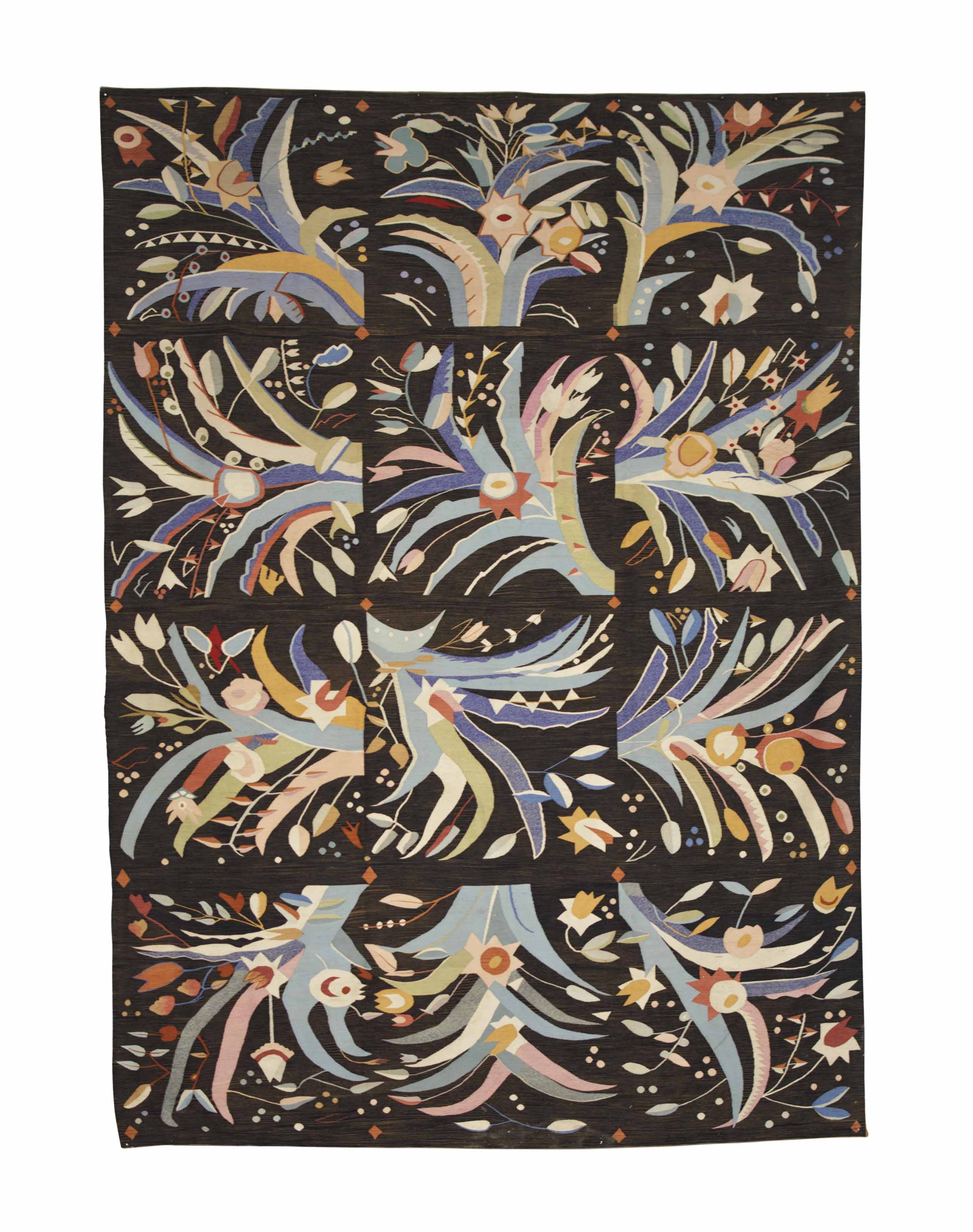 A WOOL TAPESTRY,