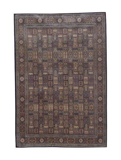 TWO SILK RUGS,