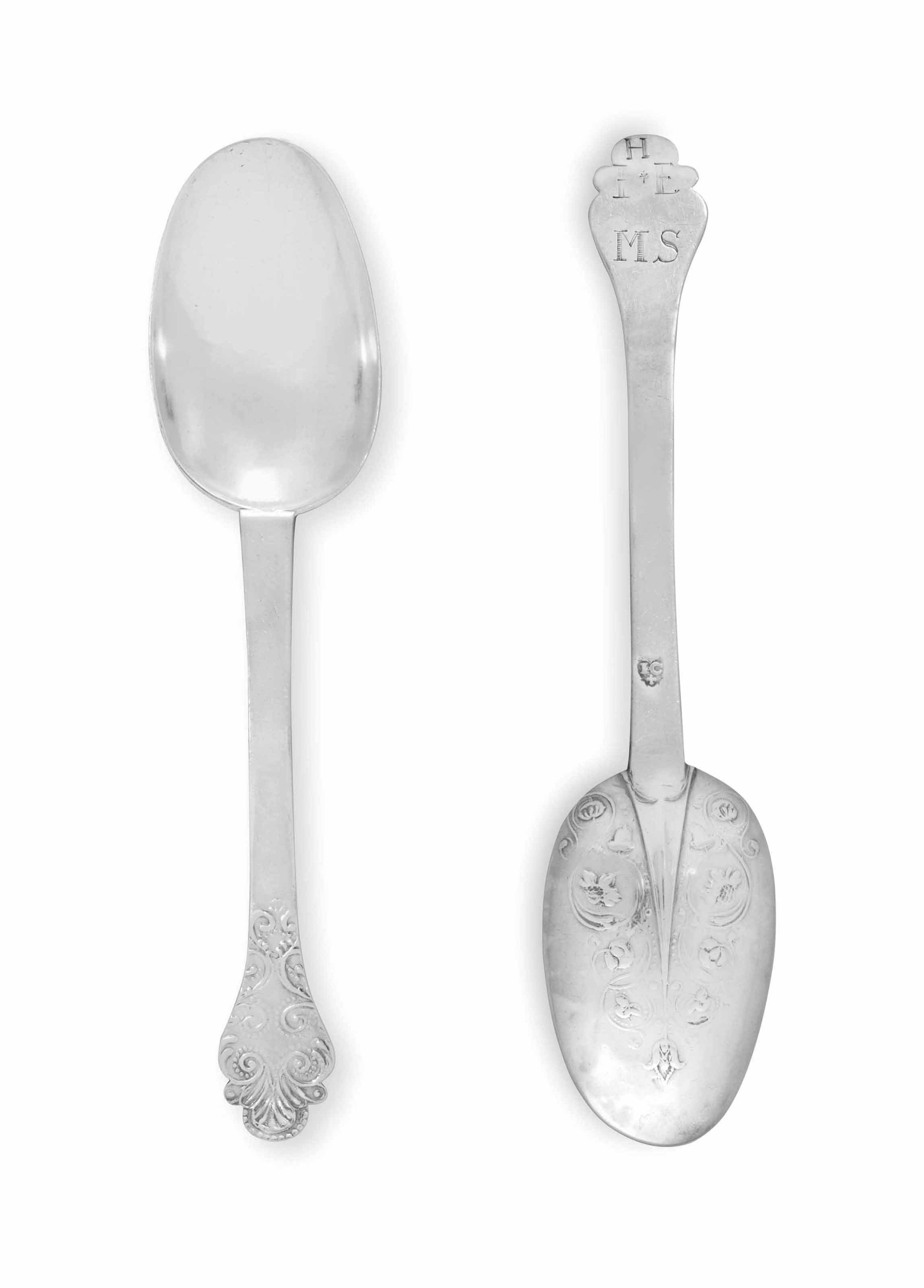 A FINE SILVER TABLESPOON
