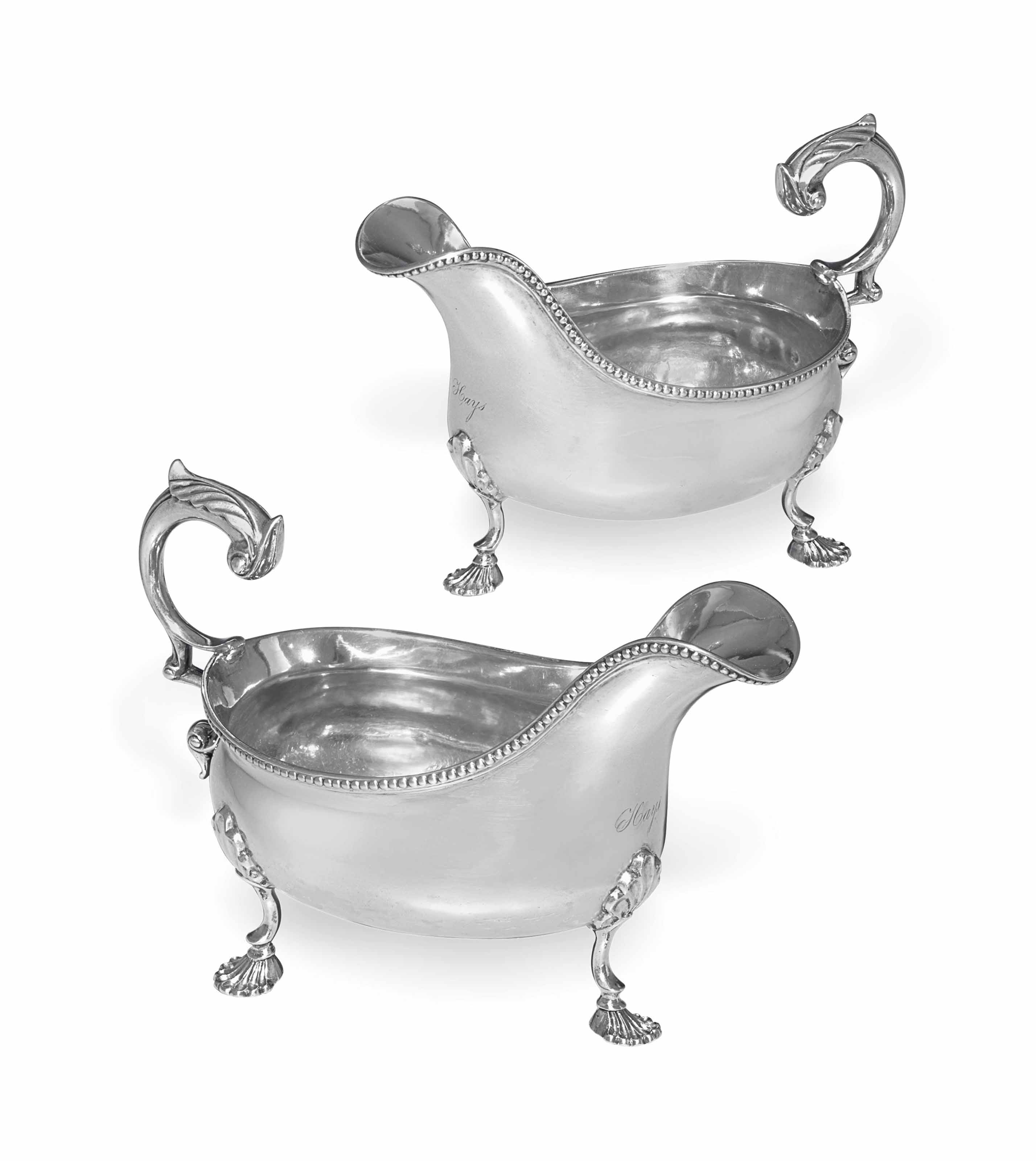 AN IMPORTANT PAIR OF SILVER SAUCEBOATS