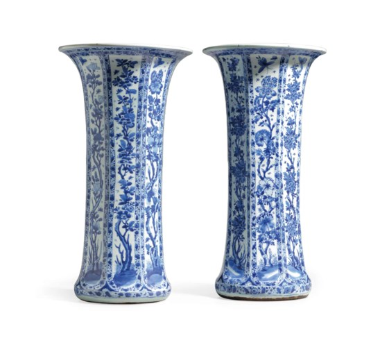 A LARGE PAIR OF CHINESE BLUE A