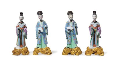 A RARE SET OF FOUR LARGE CHINE