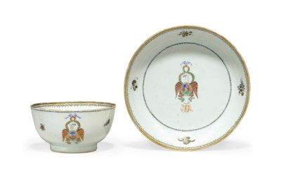 A CHINESE EXPORT PORCELAIN 'OR