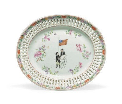A RARE CHINESE EXPORT PORCELAI