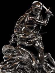 A BRONZE GROUP OF MERCURY AND