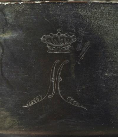 A BRONZE BUST OF LOUIS XVIII