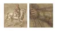 Study for an equestrian portrait of Francesco Maria II della Rovere (recto); Study for the right hand of the Duke, holding a baton (verso)