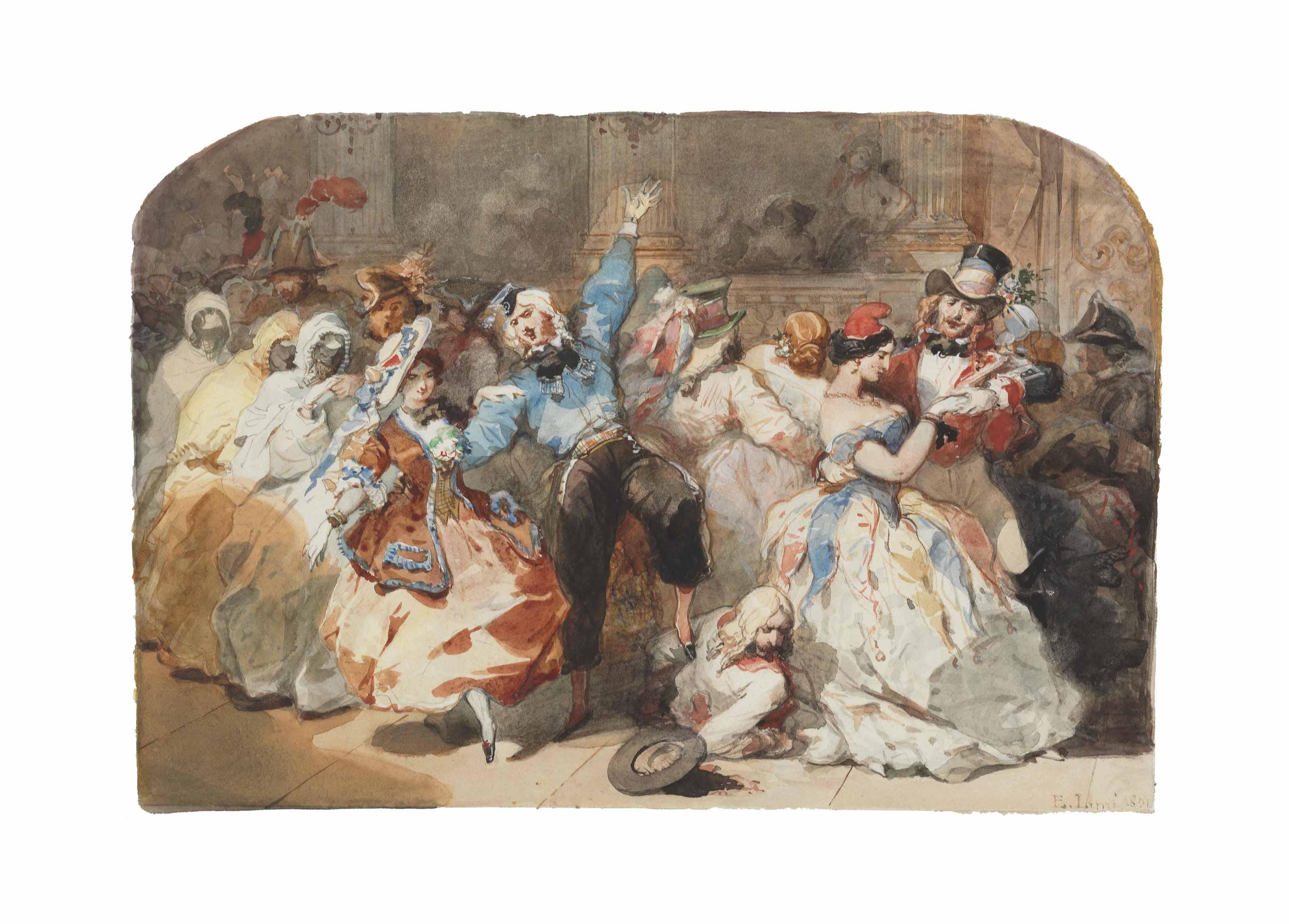 Le chahut au bal de l'Opéra