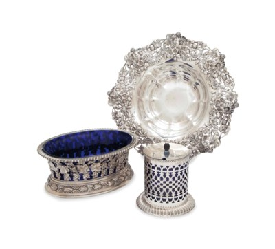 TWO ENGLISH SILVER TABLEWARES,