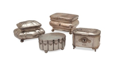 FOUR CONTINENTAL SILVER BOXES