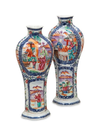 A PAIR OF CHINESE EXPORT MANDA