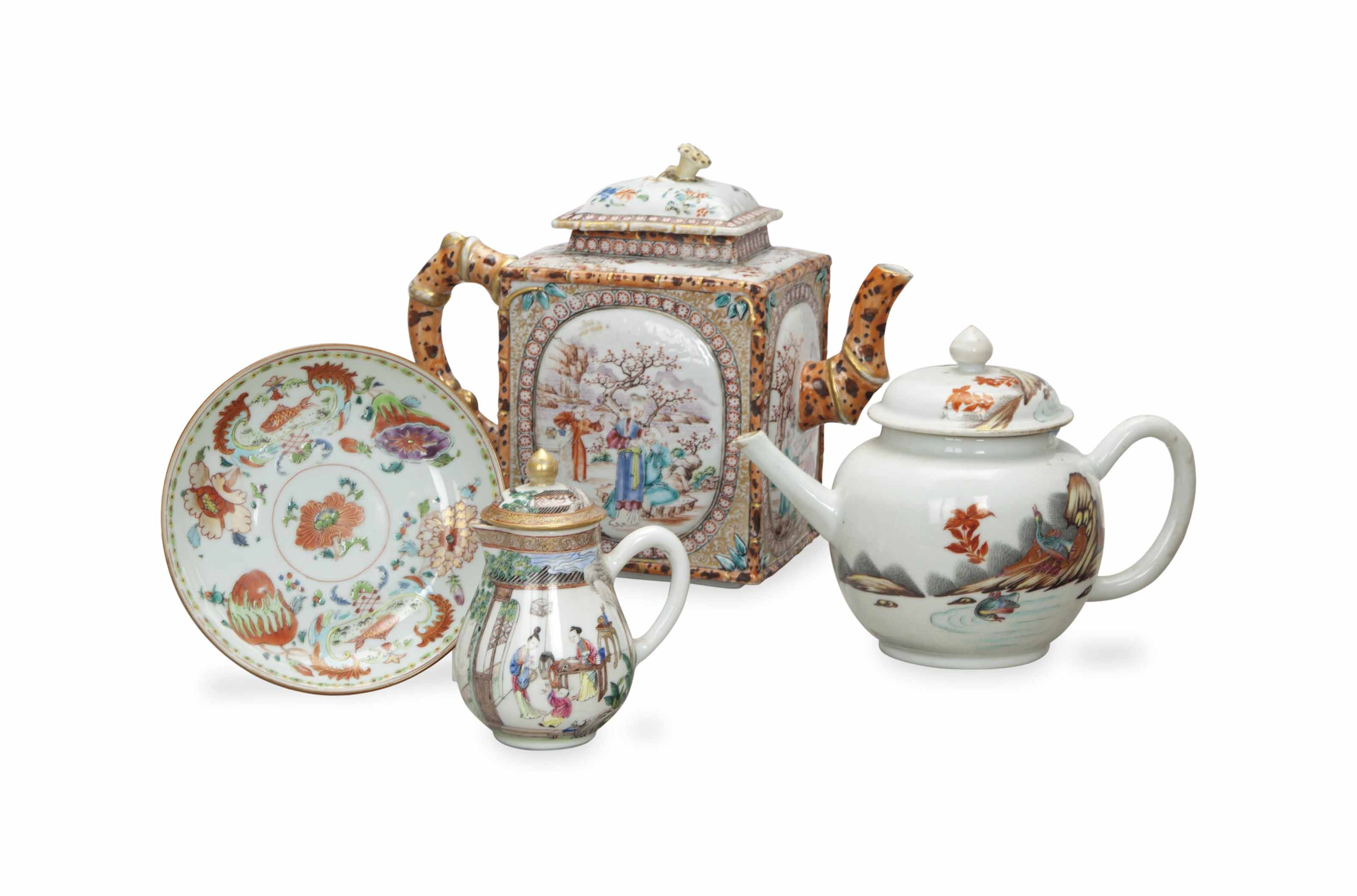 A GROUP OF CHINESE EXPORT TEA WARES,