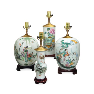 FOUR CHINESE PORCELAIN VESSELS