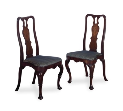 A PAIR OF GEORGE I MAHOGANY AN