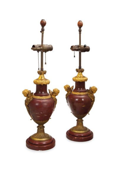 A PAIR OF FRENCH GILT BRONZE-M