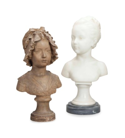 TWO BUSTS OF YOUNG GIRLS,
