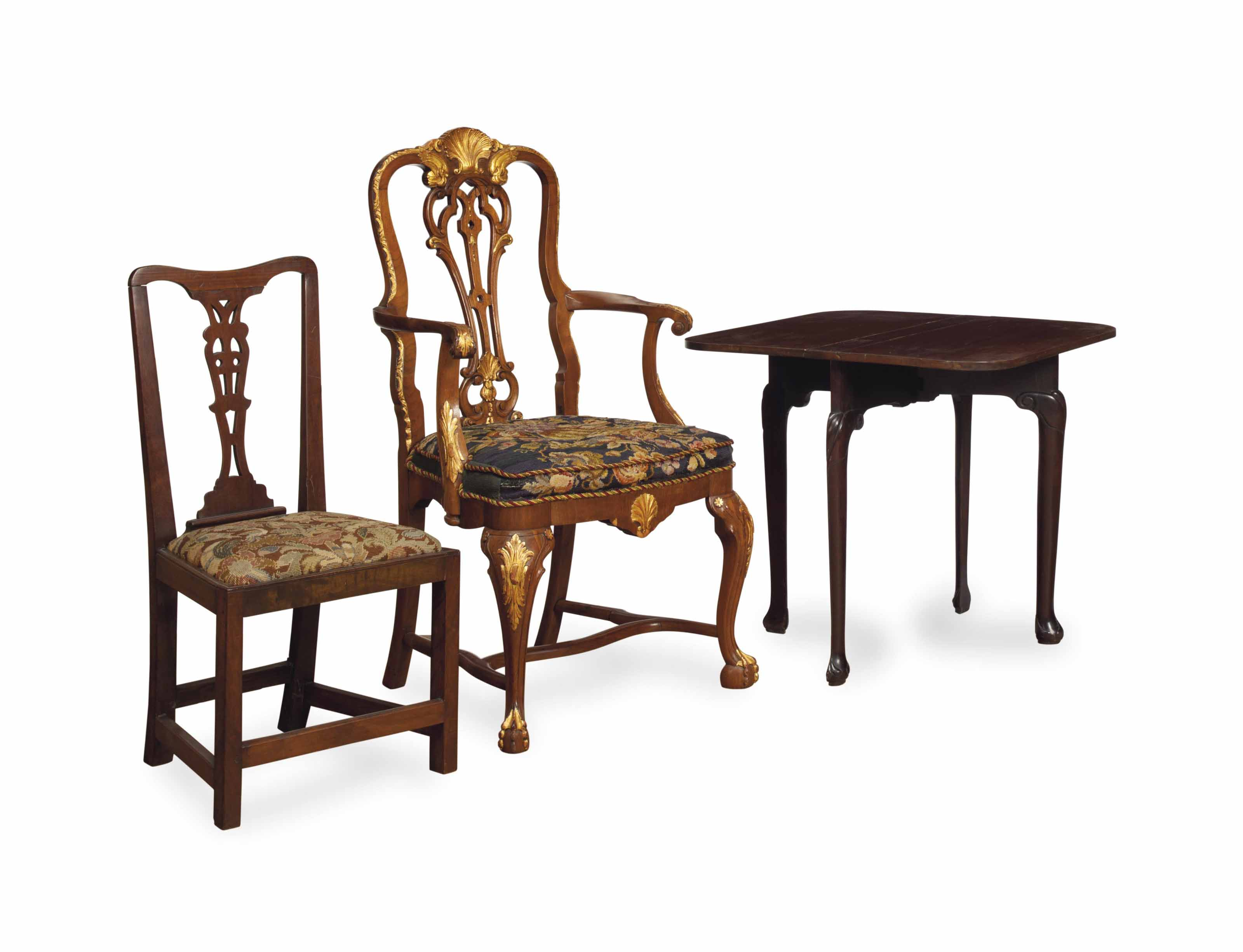 A PAIR OF GEORGE III MAHOGANY SIDE CHAIRS,