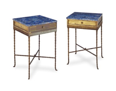 A PAIR OF BAGUES STYLE GILT ME