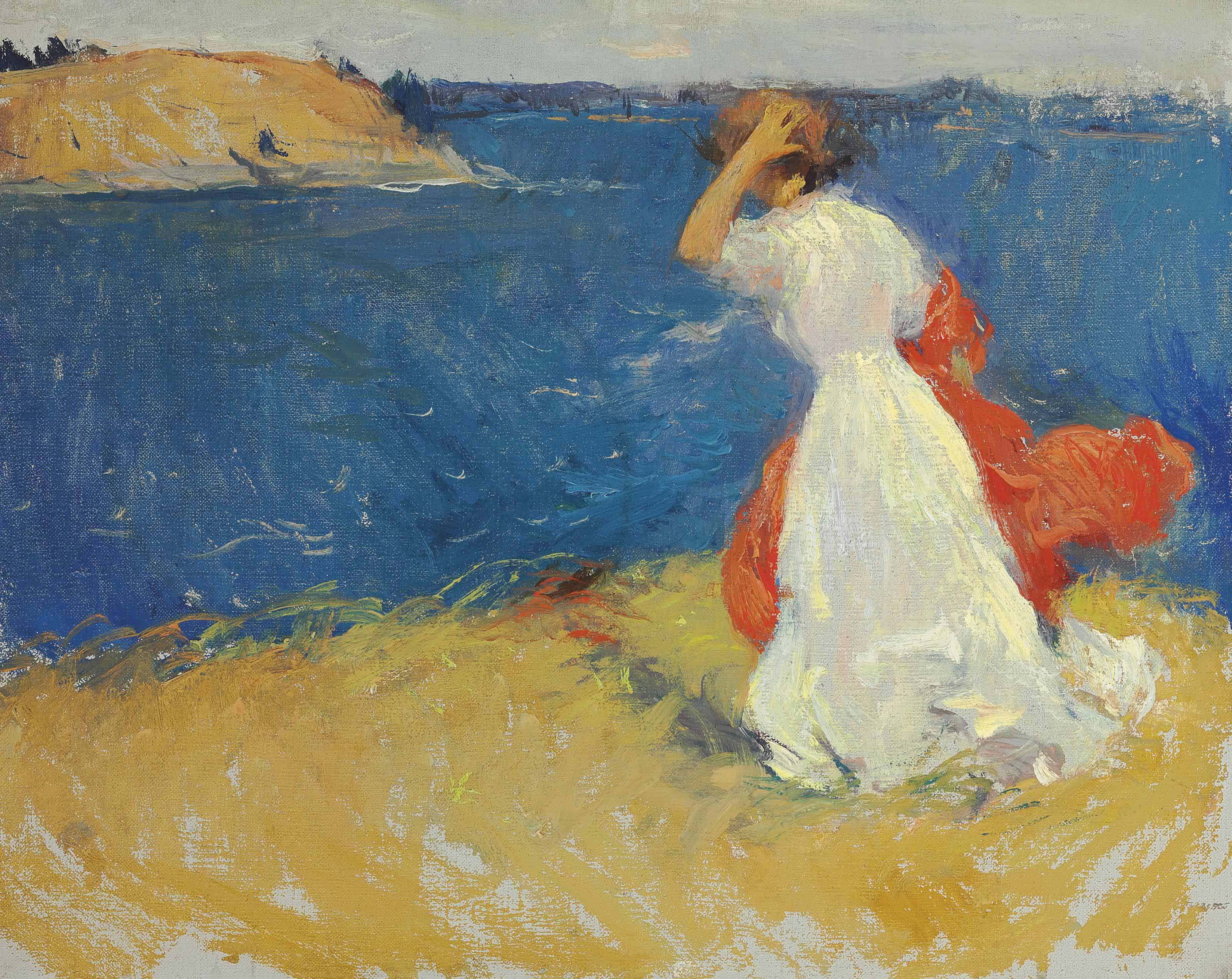 Girl on the Headland